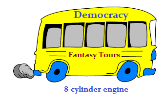 Democracy's Fantasy tours bus (18K)