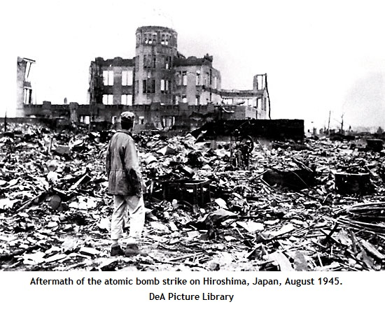 Hiroshima after atom bomb (122K)