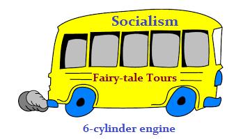 Socialism's Fairy-tale tours bus (18K)