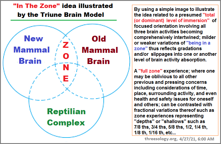 The idea of being in the zone aligned with the triune brain theory