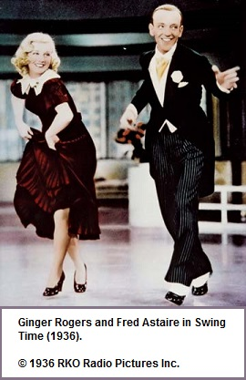 Fred Astair and Ginger Rogers