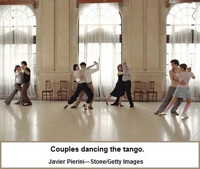 Tango dance routine