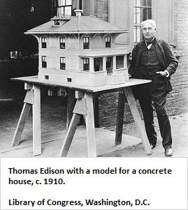 Edison's concrete house (42K)