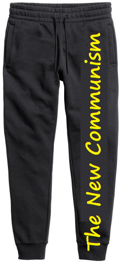 New Communism displayed on pants