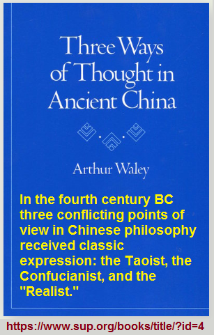 Three Ways of thought by Arthur Waley