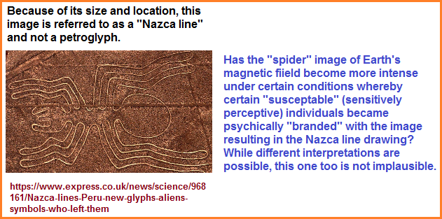 Spider image in the Nazca line depictions