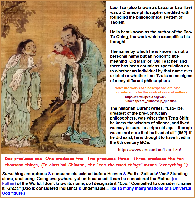 Image and commentary about Laozi