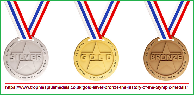 Gold, Silver, Bronze Olympic medals