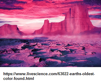 The color of Earth one billion years ago