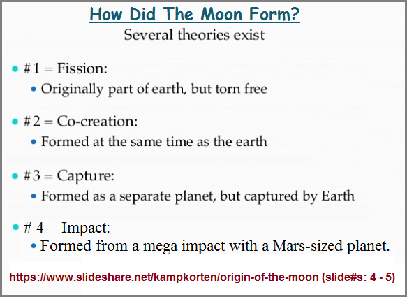 4 Moon formation theories