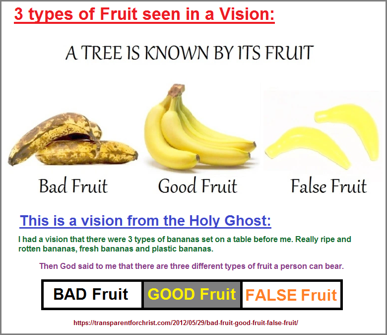 3 variations of the same fruit used as a religious reference