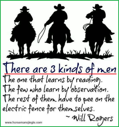 3 kinds of men by Will Rogers