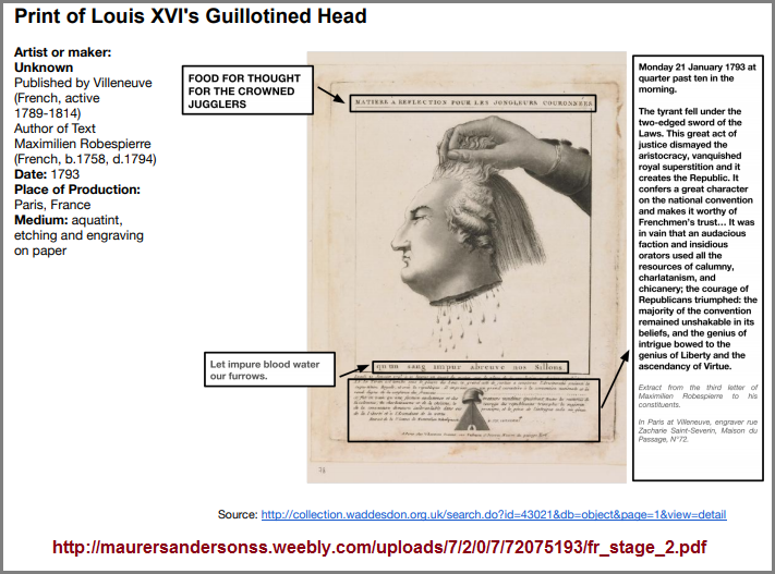 Guillotined Head of Louis XVI