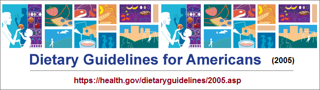 US dietary guidelines image for 2005