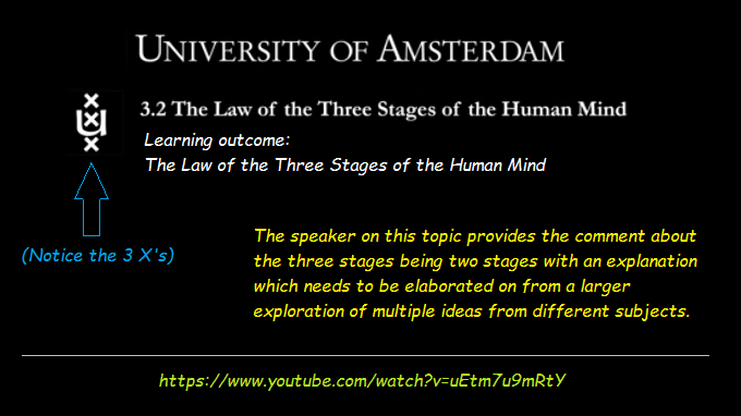 Comte's 3 stages viewed as 2