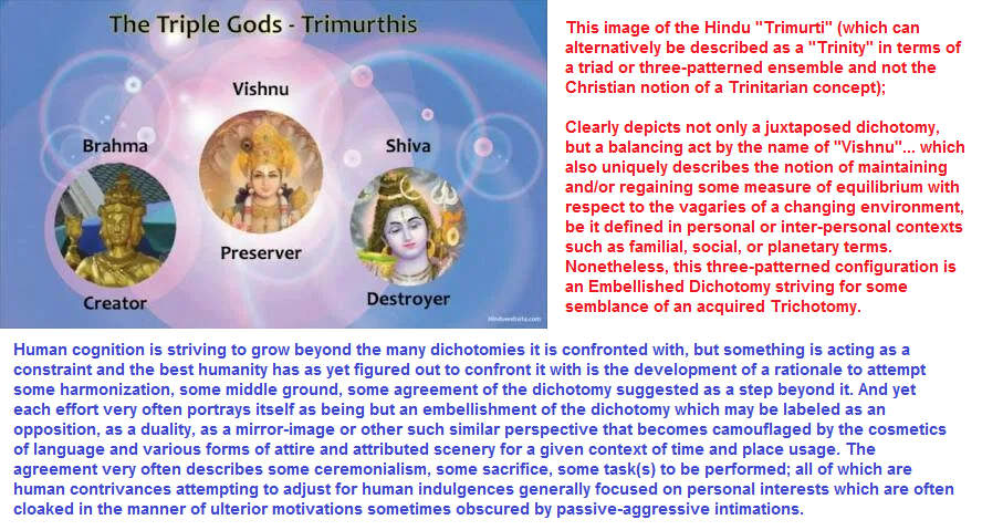 Hinduist Trimurti as an Embellished Dichotomy