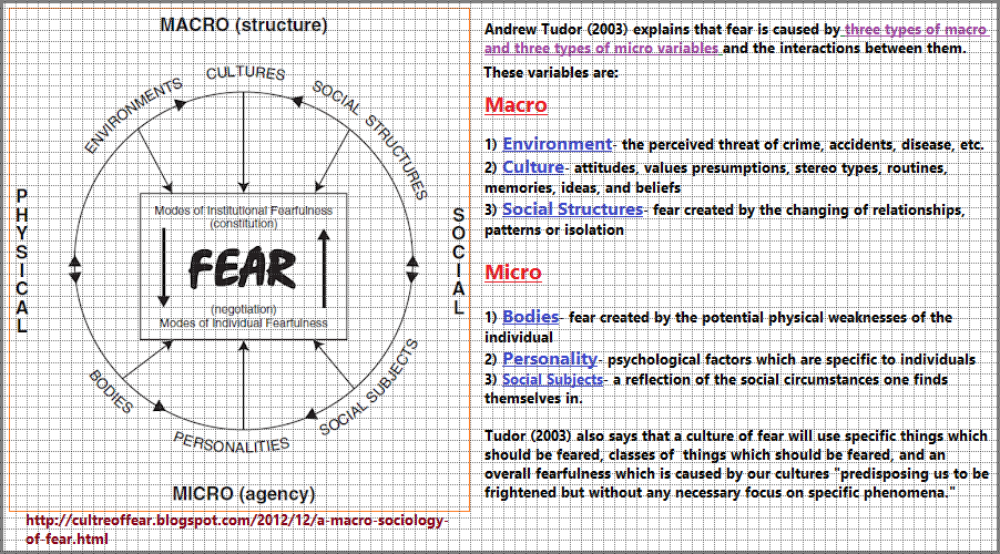 Illustration of Fear described by Andrew Tudor