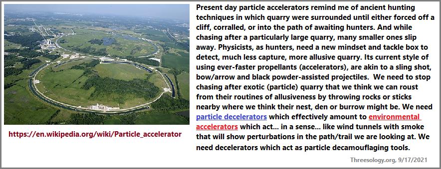 Instead of particle accelerators, we need decelerators