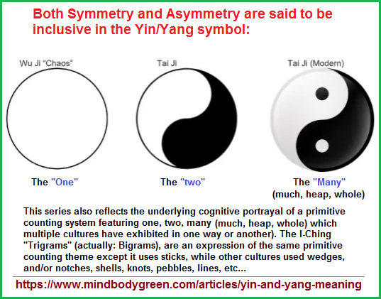 Yin and Yang sybology expressing a cognitve profile