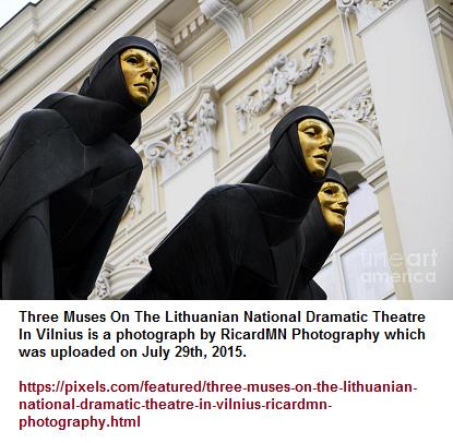 A lighter background for 3 darkly attired figures