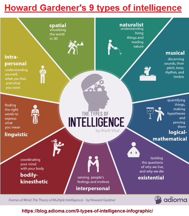Gardener's 9 types of intelligence