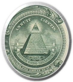 Great seal on the dollar bill