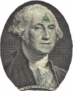 George Washingtion with a 3rd eye