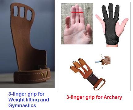 3-finger sports grips