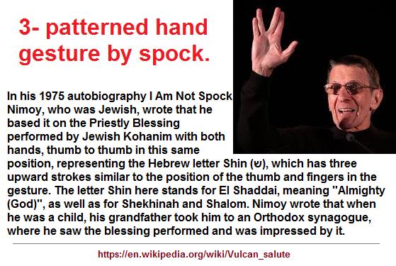 3-patterned hand gesture of Spock