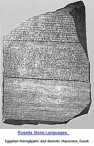 Rosetta Stone and its three languages
