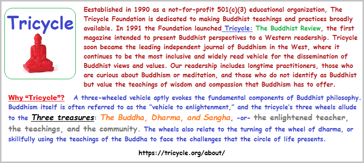 Tricycle foundation emblem and introducton