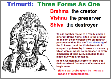 The Three in one Hindu Trimurti