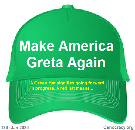 A green hat for progress, not a red hat for halting it.