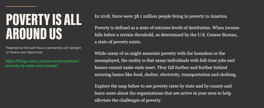 Poverty not only in America, is all around us