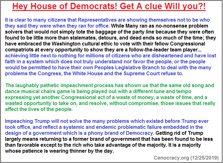 House Democrats appear to be clueless