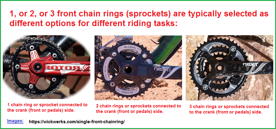 1, 2, or 3 front chain rings