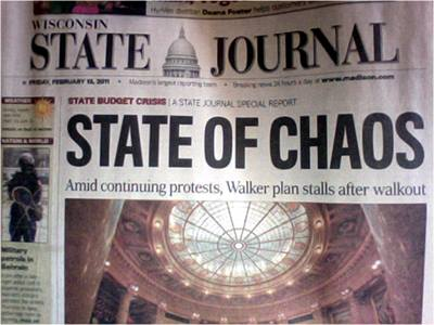 News Headline: State of Chaos
