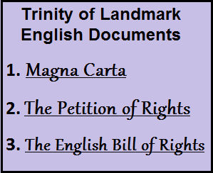 Trinity of landmark English Documents