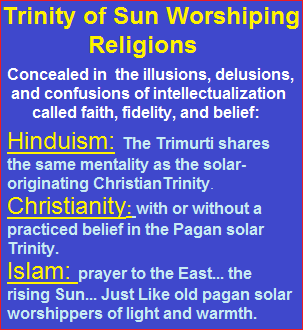 Present day Trinity of Solar Woshipping religions