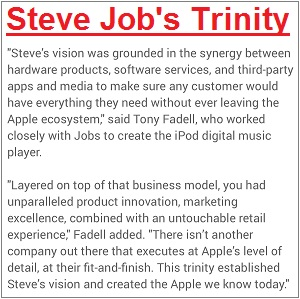 Steve Job's Trinity