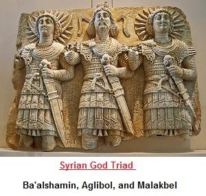 Syrian (Assyrian) god trinity