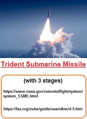 Trident submarine missile