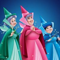Three fairy godmothers of Disney's Sleeping Beauty