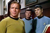 Kirk, McCoy, Spock of Star Trek fame