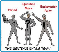 Three sentence ending punctuations