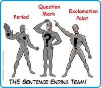 Three sentence ending punctuations