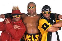 Too Cool and Rikishi wrestling trio