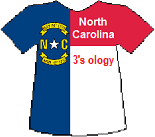 North Carolina's Threesology T-shirt (9K)