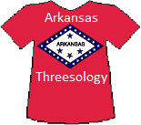 Arkansas's Threesology T-shirt