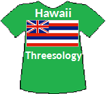 Hawaii's Threesology T-shirt